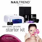 Luxury Nail Trend Gel Polish Home Starter Kit Accessories Pack 36W UV White Lamp