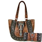 Western Montana West Handbag Tote Set W / Wallet Conceal and Carry Purse
