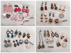 4 Groups of 6 Pairs Vtg-Now Jewelry Unique Silver Gold Tone Earring Bundles Lots