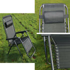 3 Piece Texteline Garden Set Outdoor Reclining Lounger Chairs & Folding Table