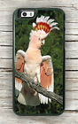 BIRD PARROT COCKATOO PINK AND WHITE CASE FOR iPHONE 7 or 7 PLUS -fgfh5Z