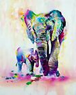 Modern Elephant Home Decor Canvas Print. Framed Or Unframed