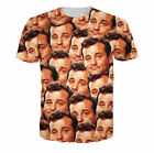 Fashion Women/Mens Bill Murray All Over Funny 3D Print Casual T-Shirt VG66