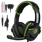 Sades SA-708 GT Gaming Headsets Headband headphones w/Mic for PS4 Xbox one PC
