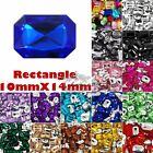 30-50 PCS 10mmX14mm Rectangle Pointed Back Assorted Acrylic Mix Octagon Crystal