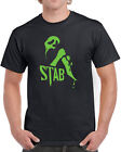 351 Stab mens T-shirt film movie scream scary 90s slasher flick costume funny image