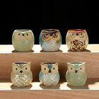 Cute Owl Mini Ceramic Succulent Planter Pot Flower Plant Home Garden Decor Gift
