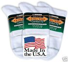 Extra Wide Socks 3 PACK Athletic ANKLE Black White 7500 8600 6E Width Wide