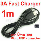 DC 5V 2A/3A 18AWG Fast Charge Only 5Pin Micro USB Charger Cable Cord for Android