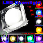 1W 3W 6W led Crystal Downlight Round/Square Down Ceiling Light with driver