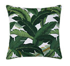 Dark Green Hawaiian Outdoor Pillow, Island Hopping Emerald Green Tropical Pillow