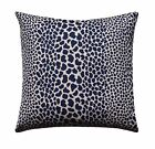 Leopard Print Pillow, Animal Print Pillow, Indigo Blue Leopard Spotted Pillow