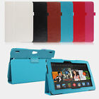 PU Leather Folio Flip Case Cover Stand For Amazon Kindle Fire HD 8.9""