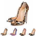 Charming Women's Peep Toe Thin High Heel Sole Stilettos Party Casual Shoes