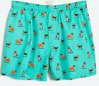 J Crew Smoking Dogs Mens Boxer BOXERS  M L Or XL NWT