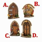 FAUX STONE & WOOD FAIRY GARDEN DOORS CHOICE OF 4 KINDS SPRITES - GNOMES - ELVES