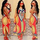 2017 Sexy Woman's Traditional African Print Dashiki Halter Straps Bohemia Dress