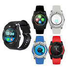 V8 Bluetooth Smart Watch Phone Mate Round Screen For Android IOS iPhone Samsung