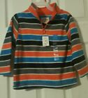 NWT Children's Place Boy's Long Sleeve Stripes Fleece Pullover Half zip 2T 3T 4T