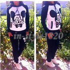 2Pcs Mickey Cartton Tracksuit Hoodie + Pants Sweatshirt Sport Suit Track Sweat