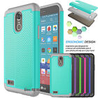 Shockproof Rugged Rubber PC Hard Case Cover For LG Stylo 3/Stylus 3/LS777/M430