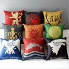 Game of Thrones Family Home Car Decor Sofa Cushion Linen Pillow Cover Pillowcase