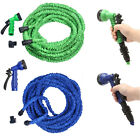 Deluxe 25 50 75 100 Feet Expandable Flexible Garden Water Hose w/ Spray Nozzle