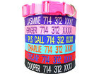 Personalized Embroidered Dog Name Adjustable Nylon Collar Black Red Pink Purple