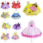 Внешний вид - Kids Girls Boy Cartoon Umbrella Children Anime Pop-up Ear Dome Hook Brolly Gift