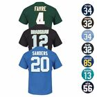 "NFL ""Eligible Receiver"" HOF Retired Player Jersey T-Shirt Collection - Men's $19.99 USD"