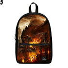 15 inch Cool Dragon Backpack Canvas School Bags Teenager Book Bags Rucksack Bags