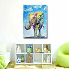 Watercolour Elephant Canvas Prints Framed Wall Art Home Shop Decor Painting Gift