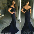 Plus Size Mermaid Black Lace Wedding Evening Gowns Formal Bridesmiad Dresses