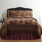 4-pc NINEPATCH STAR Primitive Quilt Set TWIN QUEEN CAL KING PRICE MATCH PLUS VHC