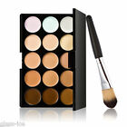 Palette con 15 correttori in crema make up /fondotinta, set trucco con pennello