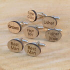 WOODEN Wedding Cufflink Mens Cuff links Groom Best Man Usher Page Gift etc.