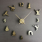 Creative Wall Clock Yoga Metallic Sense Watch Home Decor 19.6""