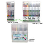 TOYO Water-Based Calligraphy Twin Tip / One Side Tip pen - Pick - 6/12 Colors