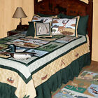LODGE FEVER Lodge Moose Patchwork Quilt Set 4-pc TWIN * 6-pc QUEEN * 6-pc KING