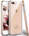 For Apple iPhone 7 Plus Clear Case Hybrid Defender Slim Soft TPU Phone Cover