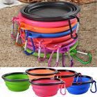 Portable Silicone Collapsible Pet Travel Feeding Bowl Food Water Dish Feeder