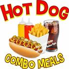 Hot Dog Combo Meals DECAL (Choose Your Size) Food Sign Restaurant Concession