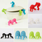 2pc Silicone Anti-overflow Home Kitchen Tool Little People Pot Lid Cover Lifter