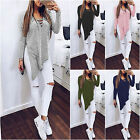 Women Casual Long Sleeve Split Side Shirt Lace-Up Asymmetric Tops Blouse T-Shirt