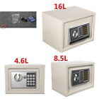 White Home Metal Digital Key Jewelry Money Deposit Cash Security Safe Box Locker