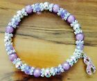 purple ribbon awareness - CANCER AWARENESS LIGHT PURPLE STRETCH RIBBON CHARM BRACELET IN ALL SIZES
