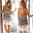 Women Summer Sleeveless Evening Party Cocktail Beach Short Mini Dress Casual