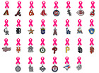 MLB Lapel Pin Breast Cancer Awareness Pink Ribbon Mothers Day PICK TEAM Baseball