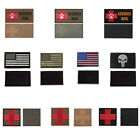 Tactical Embroidered Medical First Aid Red Cross Service Dog Patches 2 Pieces