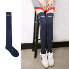 Women Lady Warm Cotton Thigh High Long STOCKINGS Knit Over Knee Lace Girls Socks